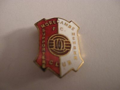 Rare Old Morecambe Football Supporters Club Enamel Brooch Pin Badge