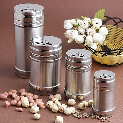 4 Sizes Spice Jars Sugar Salt Pepper Shaker Sifter Toothpick Storage Bottle