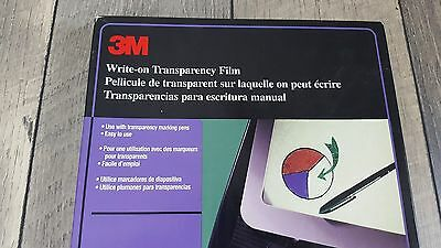 "3M Write-on Transparency Film 8.5""x11"" Film Opened Box AF4300"