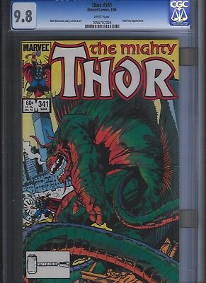 Thor # 341 CGC 9.8 White Pages. UnRestored