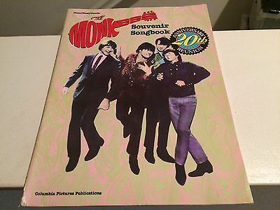 1986 The Monkees Souvenir Songbook 20th Anniversary Reunion