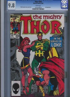 Thor # 359 CGC 9.8 White Pages. UnRestored