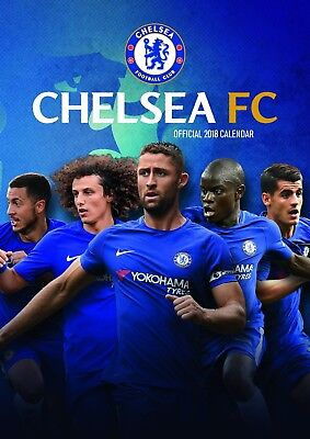 Chelsea F.C. Official 2018 Calendar A3 Wall Poster The Blues Football Club NEW