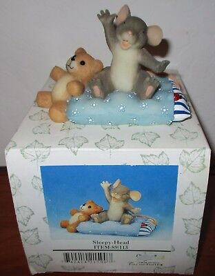 Fitz And Floyd Charming Tails Sleepy-Head Figurine 89/113 New In Box