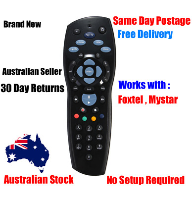 Foxtel Remote Control Controller Black For Foxtel HD PayTV - FREE POSTAGE -
