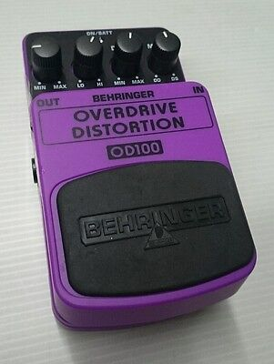 Behringer Od100 Overdrive Distortion Distorsore Effetti