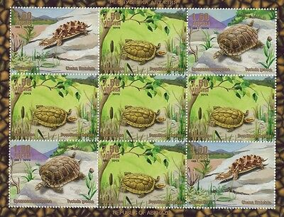 Turtle Tortoise In Different Settings 1999 Mnh Stamp Sheetlet