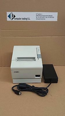 Epson Tm-T88Iv Rs232 Ticket Pos Printer With Power Supply Ps180