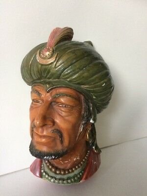 "Vintage 1960's Bossons Head Chalkware Wall Plaque ""Saracen"""