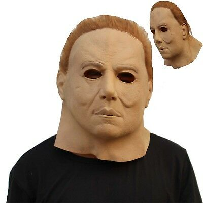 Deluxe Michael Myers Mask Latex Full Head Creepy Halloween Cosplay Masquerade