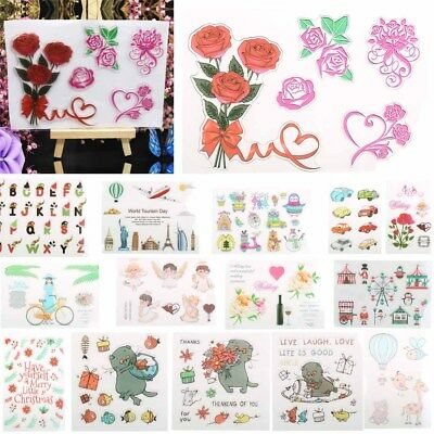 Various Clear Rubber Stamps for DIY Scrapbook Decor Cards Making Crafts Supplies