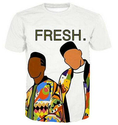 667166b8 3D Print Fresh Prince of Bel Air Art Short Sleeve Women Men Casual T-Shirt
