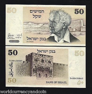Israel Palestine 50 Shekel P46 1980 *bundle* Ben-Gurion Unc Currency Bill 100 Pc