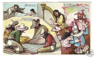 Arbuckles' Coffee Trade Card- MEXICO- #30 Sports & Pastime Series