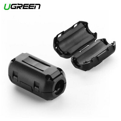 2Pcs UGREEN Clip-on Ferrite Core Ring Bead Anti-interference Detachable 7.3mm