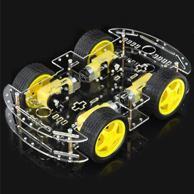 DIY 4WD Smart Robot Car Chassis Kits W/ Magneto Speed Encoder For Arduino 51