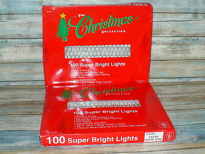 Super Bright Clear Christmas Tree Lights WHITE STRING Wedding 200 Lights