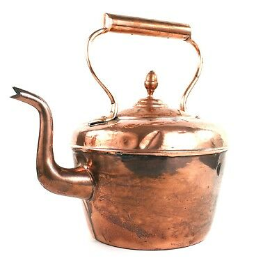 Antique Victorian Large Copper Kettle Dovetailed Maurice Cohen & Co. 1 Gallon