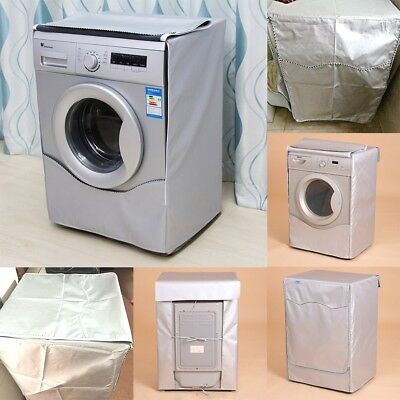 Silver Washing Machine Cover Waterproof washer Cover for Front Load Washer/Dryer