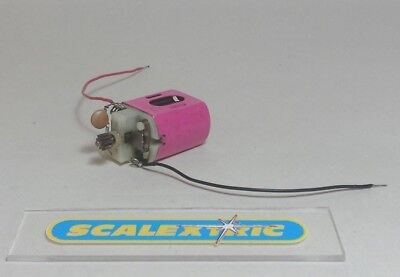 SCALEXTRIC VINTAGE Johnson Type 222 Large Can Cerise Motor with Wires (WORKING)