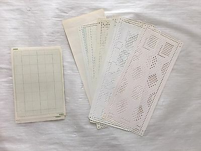 Set of Punched Pattern Punch Cards for Knitting Machines (Ref2)
