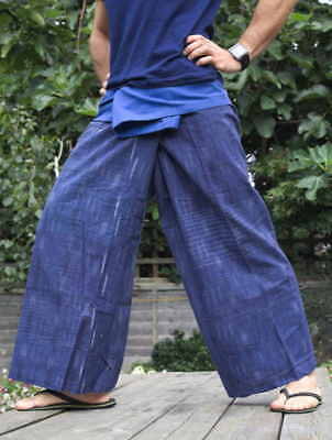 "Handwoven ""METEOR SHOWER EFFECT"" 100% cotton thai fisherman pants.Yoga trousers"