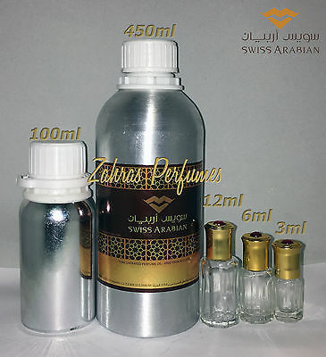 Choice of Swiss Arabian concentrated perfume oils 3/6/12ml Attar many to choose