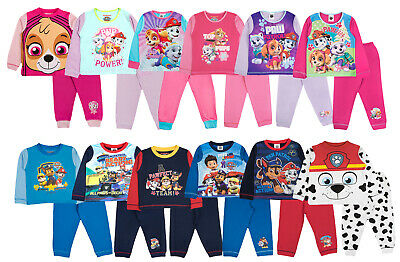 Kids Nickelodeon Paw Patrol Pyjamas Skye Chase Pjs Full Length 2 Piece Set Size