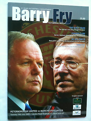 MINT 2005/06 Peterbrough v Manchester United Barry Fry Testimonial