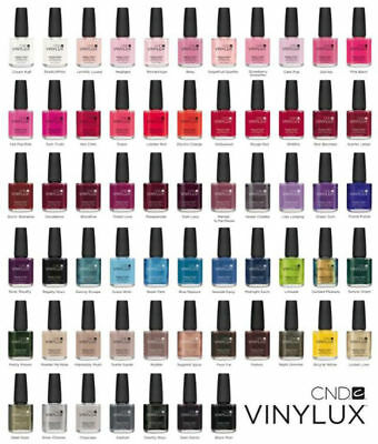 Genuine Cnd Vinylux Nail Polish Weekly Wear 15Ml Top Coat Complete Collection