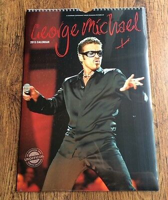 •BRAND NEW & FACTORY SEALED•2015 Calendar~George Michael (Wham!)