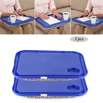 2PCS Portable Handy Lap Top Tray Pad Holder Laptop Table NotebookLearning Desk