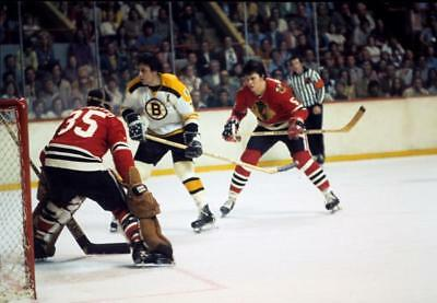Phil Esposito vs Tony Esposito Boston Bruins Chicago Auction 8x10 Photo