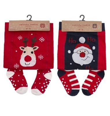 Babies Baby Girls Christmas Tights 6-24 Months Novelty Pantyhose