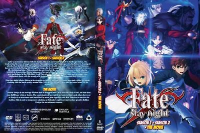 ANIME DVD~ENGLISH DUBBED~Fate/Stay Night Season 1+2+Movie(1-49End)FREE SHIP+GIFT
