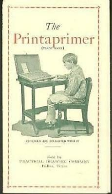 The Printaprimer Brochure Kids Educational Toy 1930's Rubber Stamps