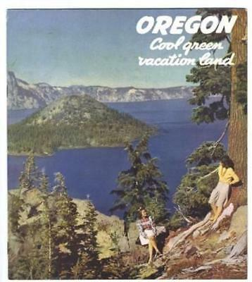 Oregon Cool Green Vacation Land Booklet 1940's Earl Snell Governor