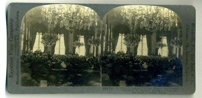 Plenary Session of Peace Conference Keystone Stereoview World War One
