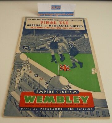 1952 FA Cup Final Arsenal v Newcastle United Football Programme