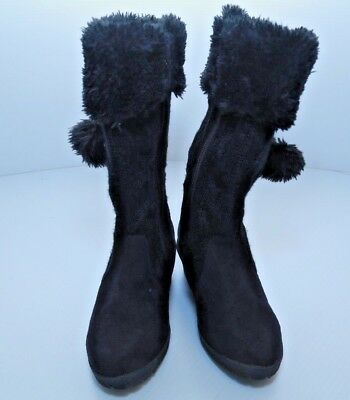 Girls Michael Kors Youth Black Zip Up Boots Size 1Y