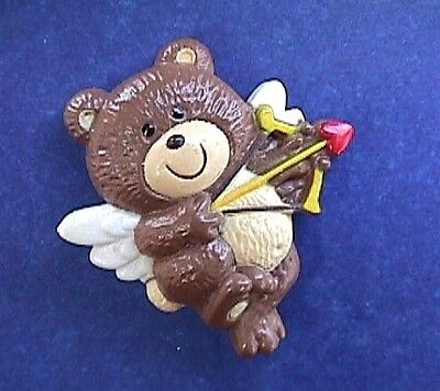BUY1&GET1@50%~Russ PIN Valentines BEAR Cupid TEDDY ANGEL BOW & HEART ARROW Vtg