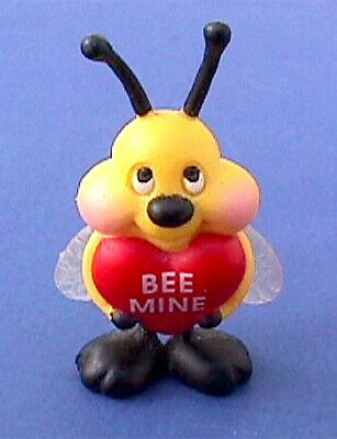 BUY1&GET1@50%~Gibson PIN Valentines BUMBLEBEE Bee Mine Heart Vtg Figurine Brooch