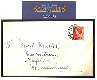 MS2476 1937 GB SCOUTING Wallis Correspondence Cirencester Cover SCOUT MASTER
