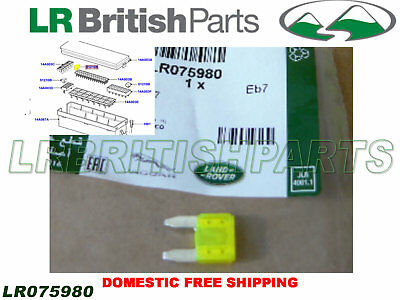Land Rover 20 Amp Yellow Mini Fuse R Rover 06-09 10-12 2013 On New Oem Lr075980