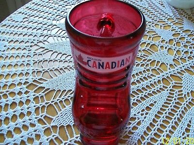 Molson Canadian Beer Red Glass Skate Boot Mug / Stein - 16 oz (946 ml) 4 cups