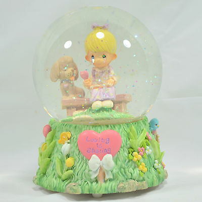 Enesco Precious Moments Music Water Globe 'LOVING IS SHARING'