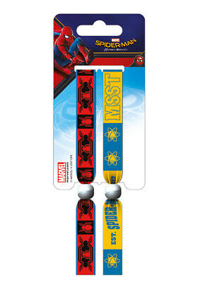 Spider-Man Homecoming (School) Pack Of 2 Fabric Festival Wristbands BY PYRAMID
