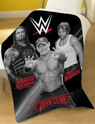 WWE John Cena Roman Reigns Fleece Blanket Supersoft Throw  100CMS X 150CMS