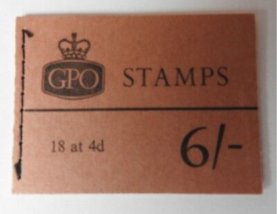 GB GPO STITCHED SEWN STAMP BOOK QP29 6 Shillings