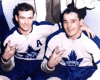 Dick Duff, Frank Mahovlich Toronto Maple Leafs 8x10 Photo